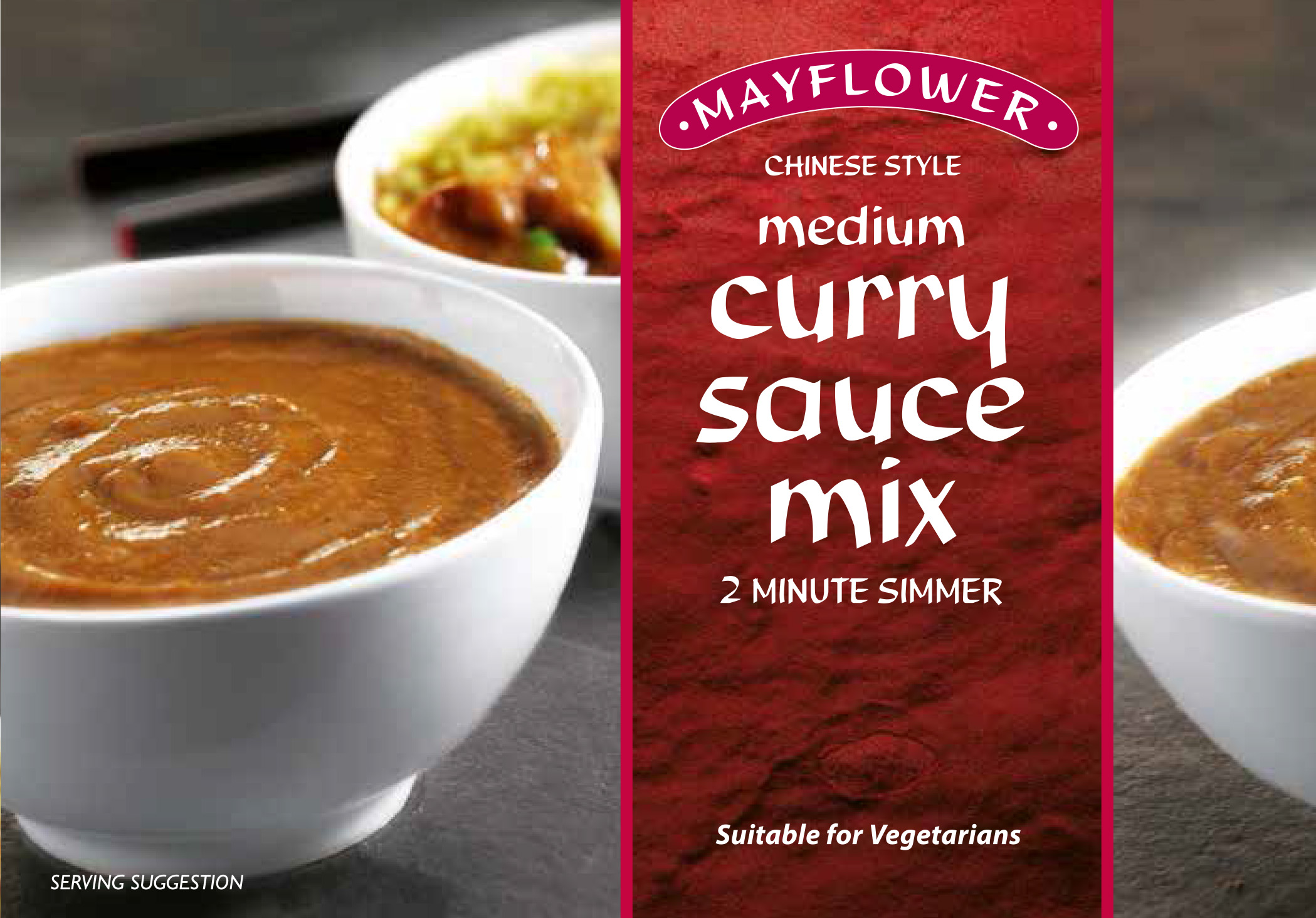 Mayflower Medium or Extra Hot Curry Sauce Mix